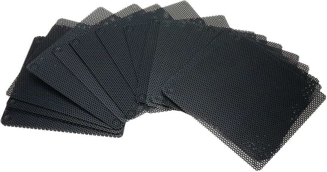 Karcy Computer Dust Filter Computer Case Fan Grill PVC Black 140x140mm/5.51x5.51 (LxW) Pack of 10