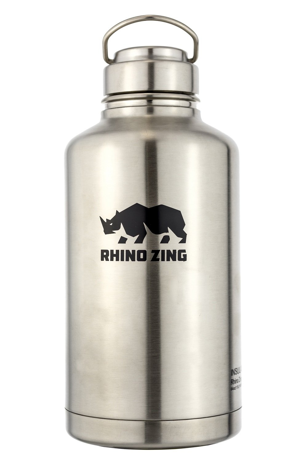 64 Oz Growler Stainless Steel Bottle SS Lid