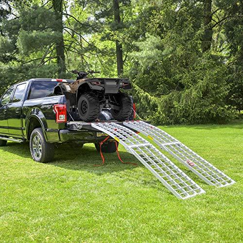 EmpireCovers Aluminum Folding ATV/UTV Ramp - 7.5' Long, 2,000 lb Weight Capacity (Sold as Pair) by EmpireCovers (Image #1)