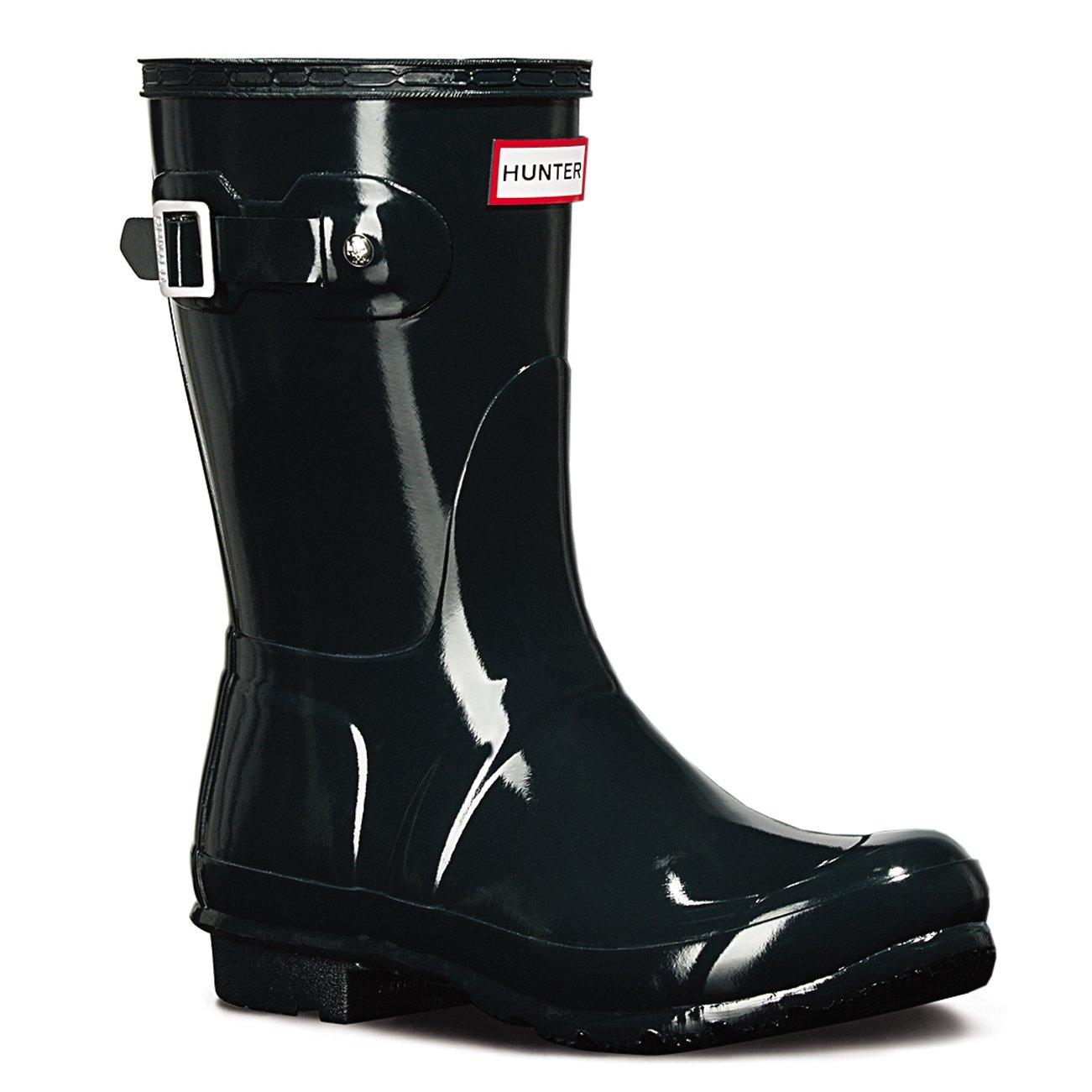 Hunter Women's Boots Original Short Gloss Snow Rain Boots Water Boots Unisex - Black - 8 B01JOTUSZY 10|Ocean Blue