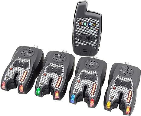 Hirisi Tackle/® Digital Carp Fishing Bite Alarm with Night Light Sensor Pack of 3