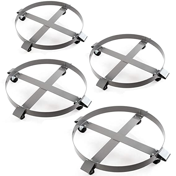 Amazon Com 4 Heavy Duty Drum Dollies 1000 Pound