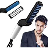ASPERIA. Quick Hair Styler for Men Electric Beard Straightener Massage Hair Comb Beard Comb Multifunctional Curly Hair Straightening Comb Curler, Beard Straightener, Beard Straightener For Men(Black)