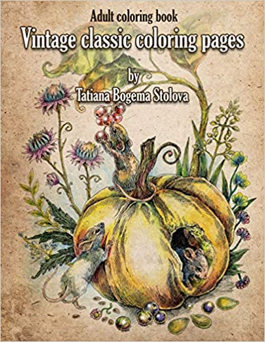 Amazon Fr Vintage Classic Coloring Pages Adult Coloring