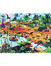 Hartmaze Wooden Jigsaw Puzzles-Dinosaur Era 166 Truly Unique Shape Piece Best Choice for Kids and Adults