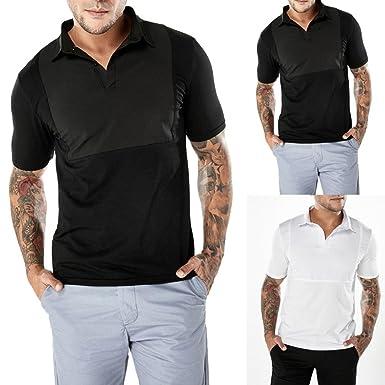 WINWINTOM Estilo de Verano Camisetas, Casual Camisas De Hombre ...