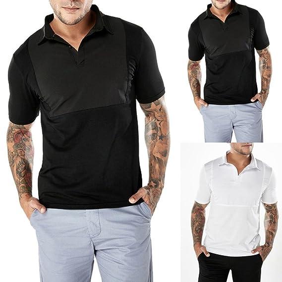 WINWINTOM Estilo de Verano Camisetas, Casual Camisas De Hombre, Moda ...