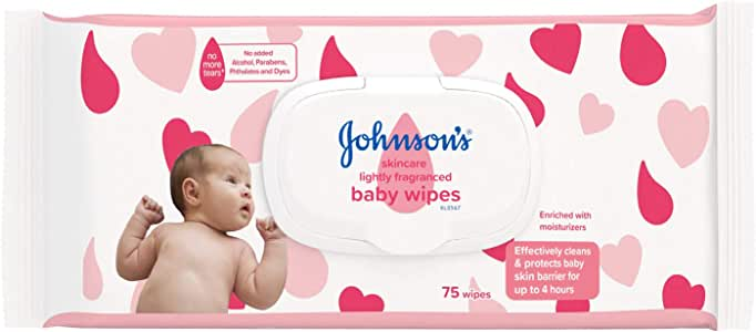 Johnson's Baby Skincare Wipes, 75 Count