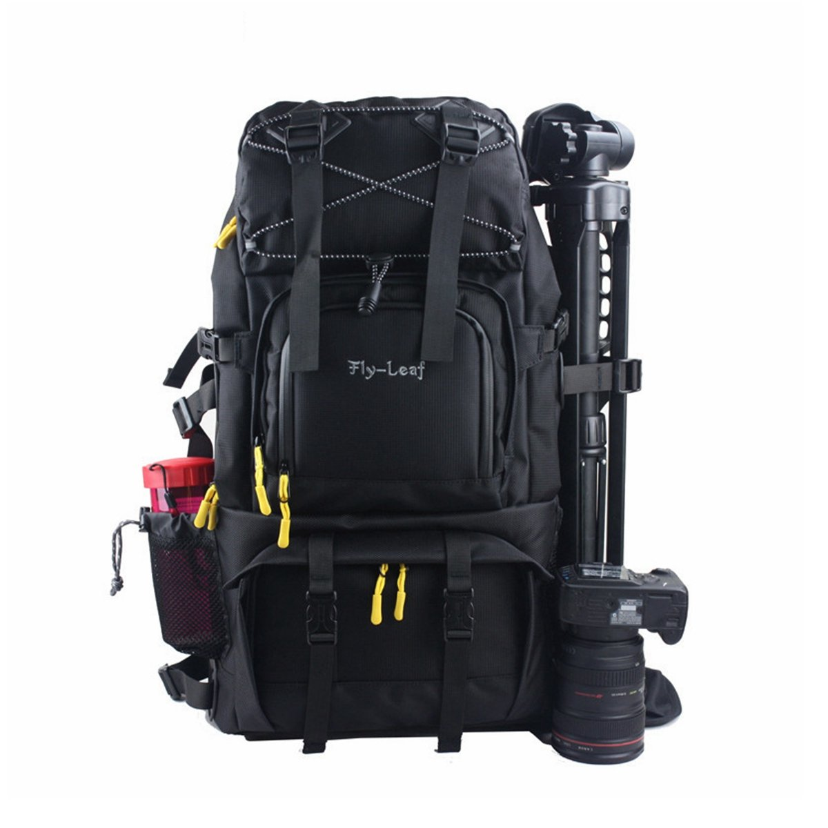 G-raphy Camera Backpack Bag Hiking Travel Backpack for all DSLR SLR Cameras , Laptops , Tripods and Accessories (Black) by G-raphy