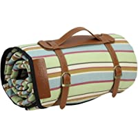 HappyPicnic Extra Large Picnic Blanket Rug, Handy Mat with Waterproof Backing, Oversized Portable Lawn Blanket or Sandproof Beach Mat for Ourdoor Camping