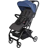 COEWSKE Baby Strollers Lightweight Jogger Stroller Cabin Approved Four Wheel Suspension Convertible Baby Carriage Large Storage Single Handed 1 Second to Expand and Fold(Blue)