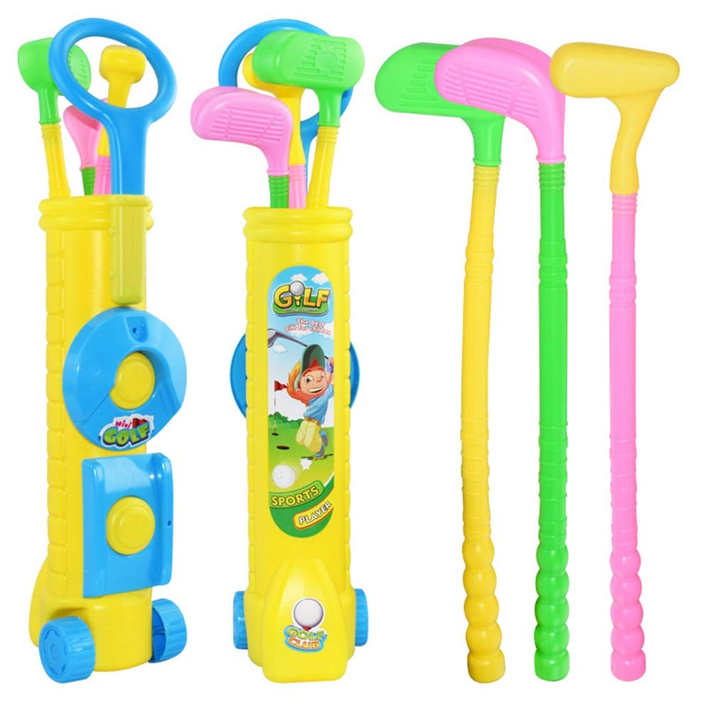 Golf Toys Set Kid's Toy Golf Golfing Playset 3 Balls Champion Sport Children 3 Clubs, 2 Practice Holes, 2 Flags Outdoor Indoor Exercise Toy (Color, Size : 439cm) by JIANGXIUQIN-Toy