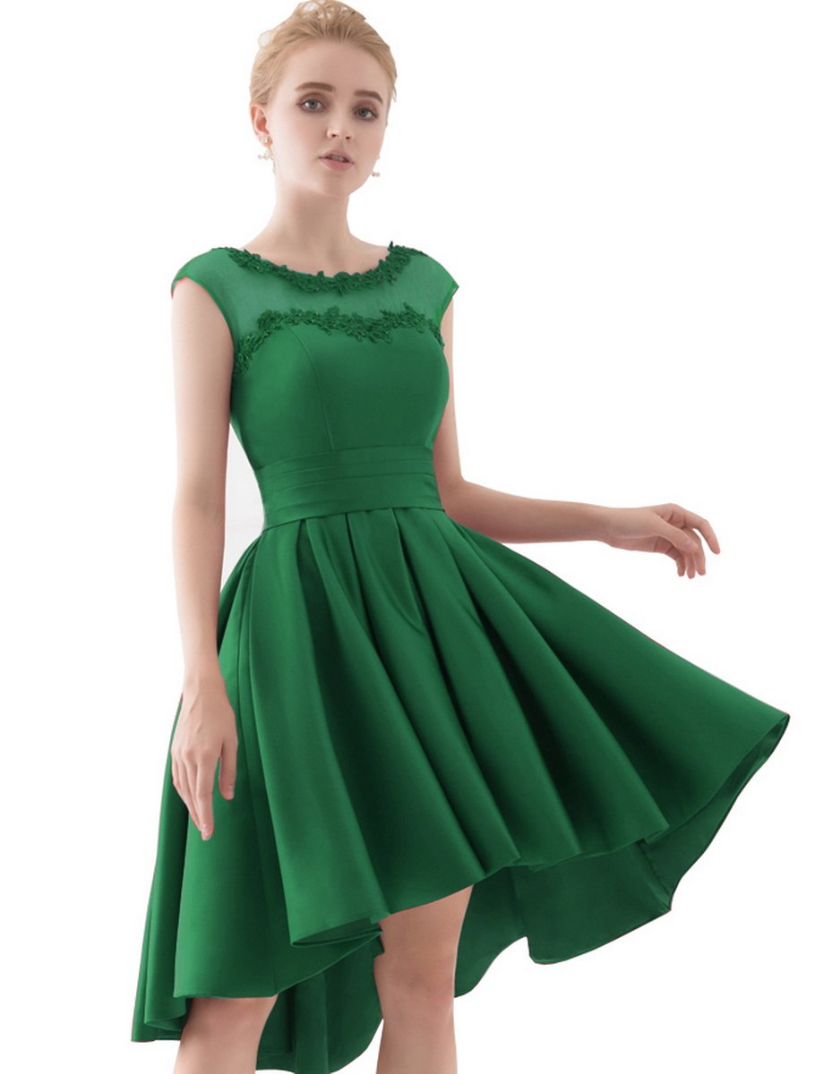 YORFORMALS Cap Sleeve A-line Homecoming Dress Short Prom Gown