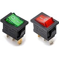 willwin 20pcs KCD1–102N SPDT ON-OFF Rocker interruptores