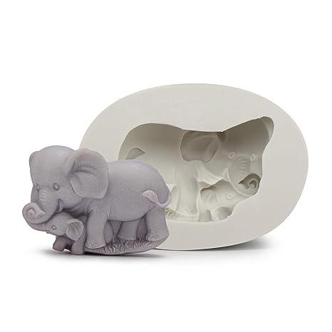Amazon.com: Beasea - Molde de silicona para elefante de bebé ...