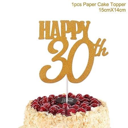 Zpriting - 1 decoración para Tarta de cumpleaños de 40 años ...