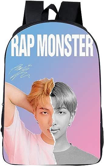 ACEFAST INC BTS Backpack Bookbag Daypack Jungkook V Jhope Suga Jimin Jin RM 3D Schoolbags Travel Backpacks for Girls