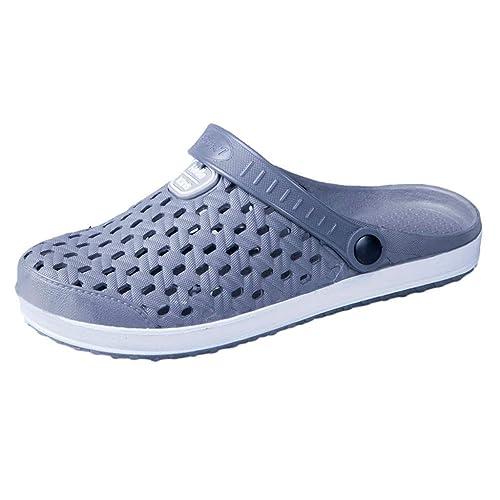 Ete Homme Unie Sport Trou Couleur Sandales Dtuta Chaussures Wading 6yf7gYb