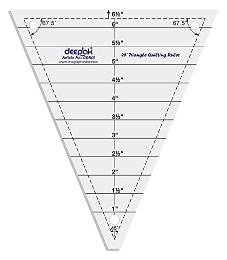 45° Triangle Shape Quilt Designing and Crafting Quilting Ruler ...