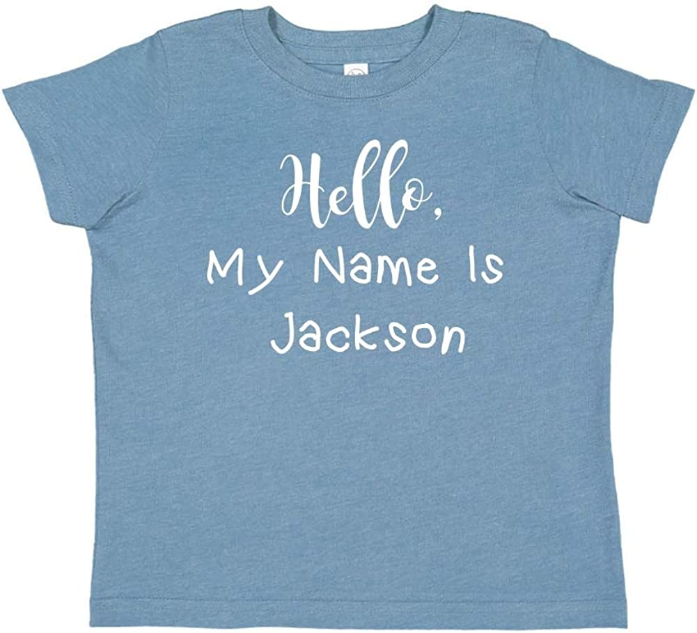 Personalized Name Toddler//Kids Short Sleeve T-Shirt Hello My Name is Jackson