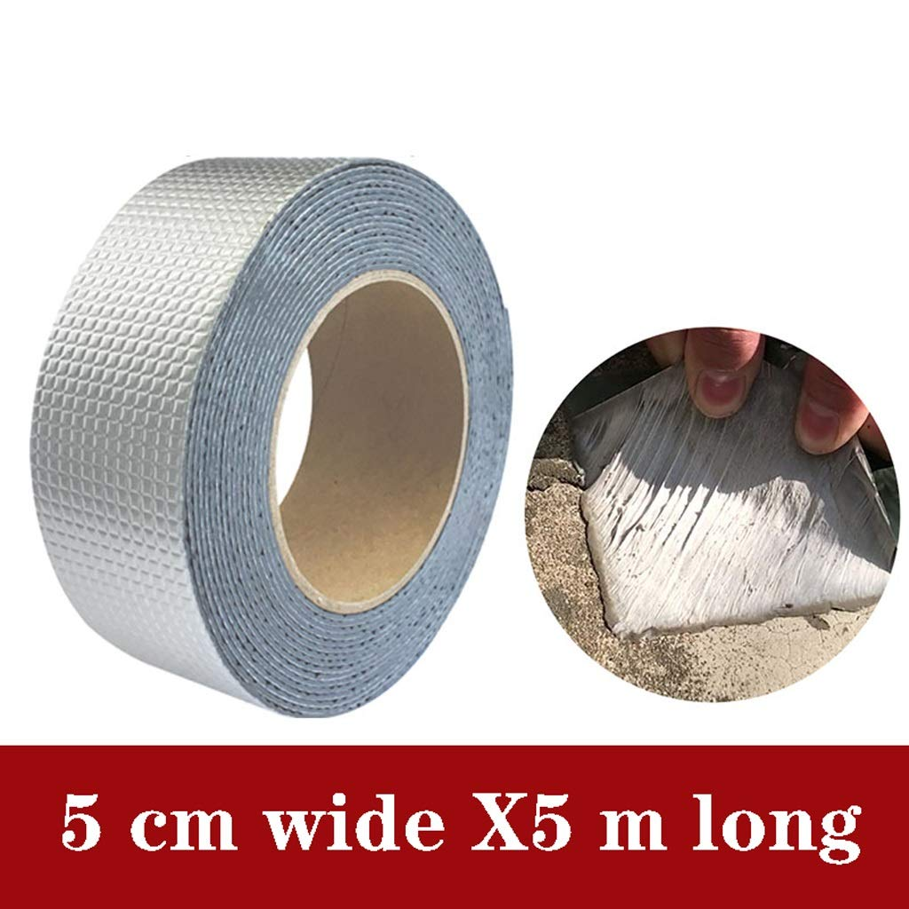 Bqybijdijb Butyl Sealant Tapes,Window Tape 16.4ft Length RV Roof Patch Seal Tape Auto Butyl Roof Repair Tape with Aluminum Foil Cover for Camping Repair and RV Sealant Caulking (Size : 20cm5m) by Bqybijdijb