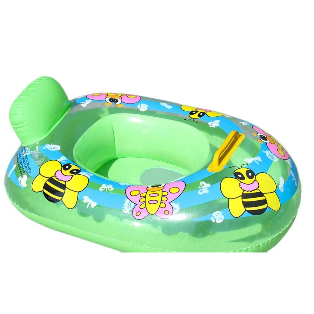 dozenla Durable Cute Animal Print Inflatable Safety Float Seat Baby Swimming Ring Baby Floats