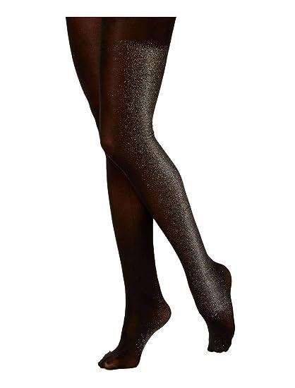506476ec181ed Hue Women's Shiny Tuxedo Stripe Tights at Amazon Women's Clothing store: