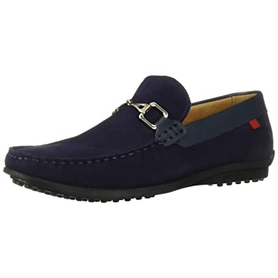 MARC JOSEPH NEW YORK Mens Grainy Leather Carneige Hill Buckle Loafer, Blue Suede, 11 M US | Loafers & Slip-Ons