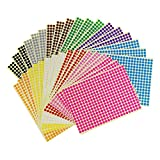 Sticky Color Coding Labels Removable Small Circle Dot Stickers for Classroom Organization Decorations Yard Sale Calendar Planner, 0.24 inch Diameter, 12 Colors, Total 14688 Dots in 36 Sheets