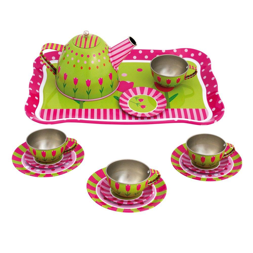 Kinder Kochgeschirr Vergleich - Mertens Teeset auf Tablett