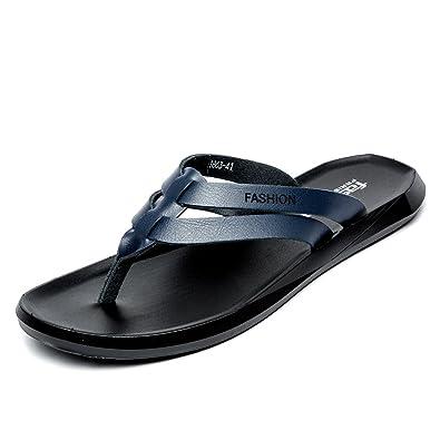 2067292826d2 Men Thong Sandals Flip Flops Lightweight Non-Slip Classic Beach Slippers  (blue39)
