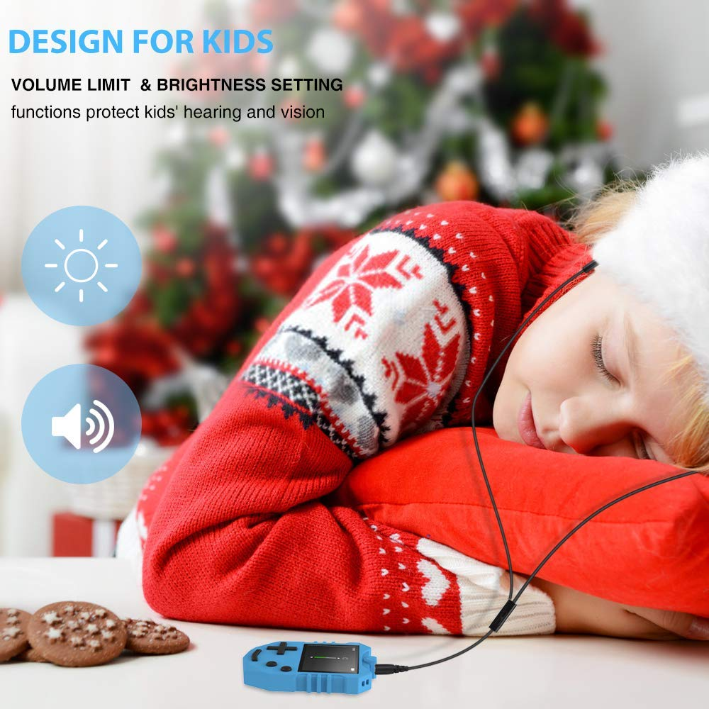 MP3 Player for Kids, AGPTEK K1 Portable 8GB Children Music Player with Built-in Speaker, FM Radio, Voice Recorder, Expandable Up to 128GB, Blue, Upgraded Version by AGPTEK (Image #2)