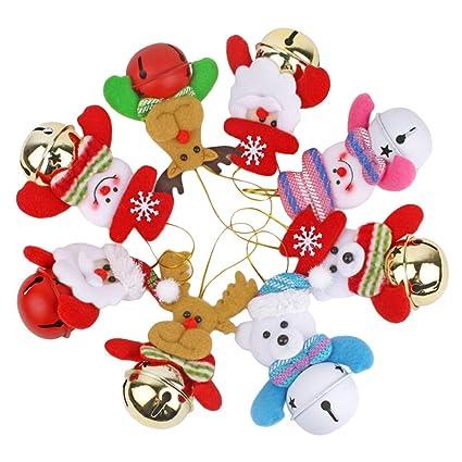 Juego de 50 cascabeles de Navidad con cuerda para /árbol de Navidad NUOBESTY
