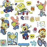 RoomMates RMK1838SCS Spongebob Skaters Peel and Stick Wall Decals