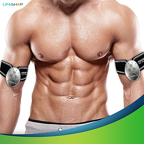 ABReflex Six Pack Abs Abdominal Trainer Fitness Toning Pad | Complete  Workout Transform Wireless Exercise Simulator Weight Loss Muscle Flex Tech  with