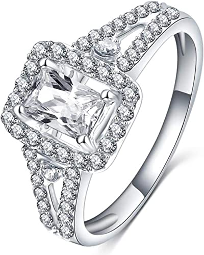 Split Shank Solitaire Copper Ring Sterling Silver 3.0 CT 8 mm CZ Cubic Zirconia