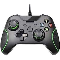 HNQH Controle com fio para Xbox One, joystick de jogo com vibração dupla com porta de fone de ouvido de 3,5 mm para PC…