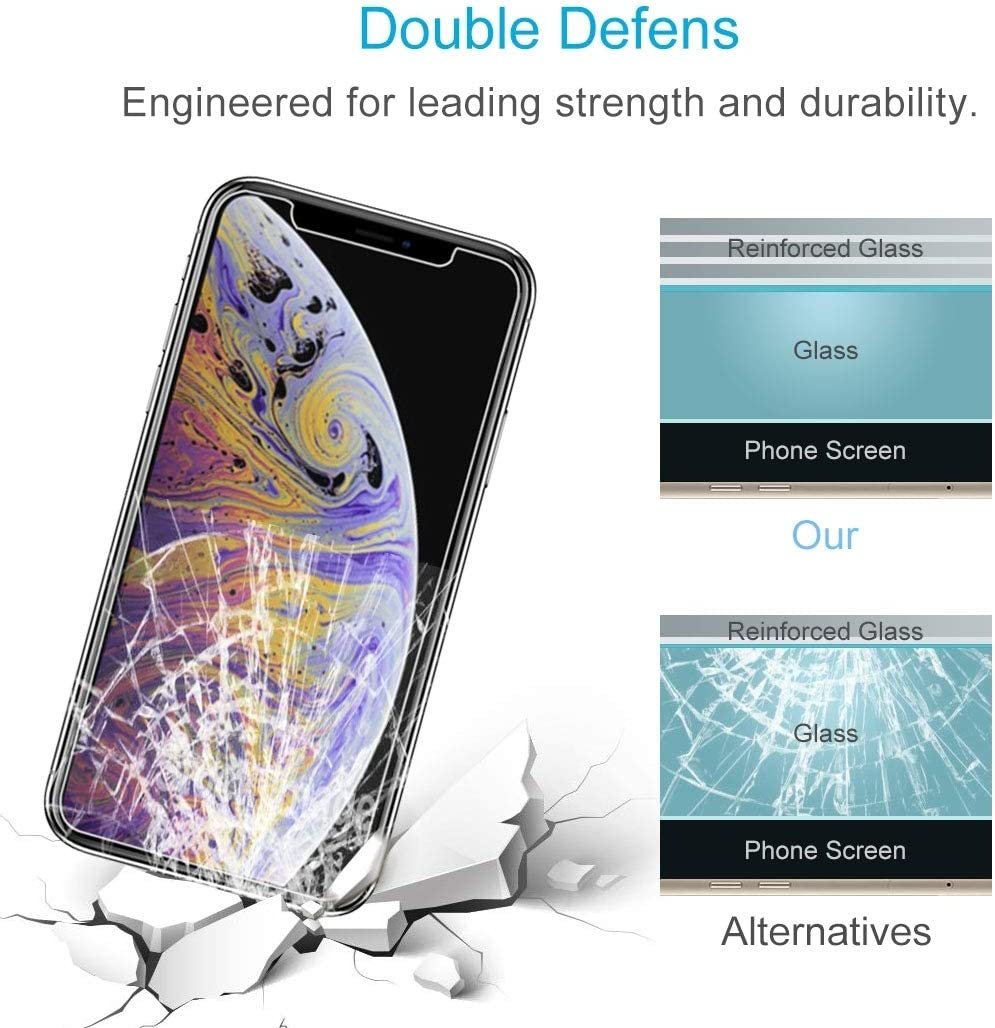 CHENNAN 100PCS 9H 2.5D Tempered Glass Film for iPhone Xs Max Glass Phone Screen Protectors