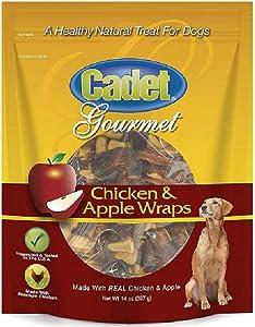 Cadet C07209 14 oz Apple & Chicken Wrap Dog Treats - Quantity 3