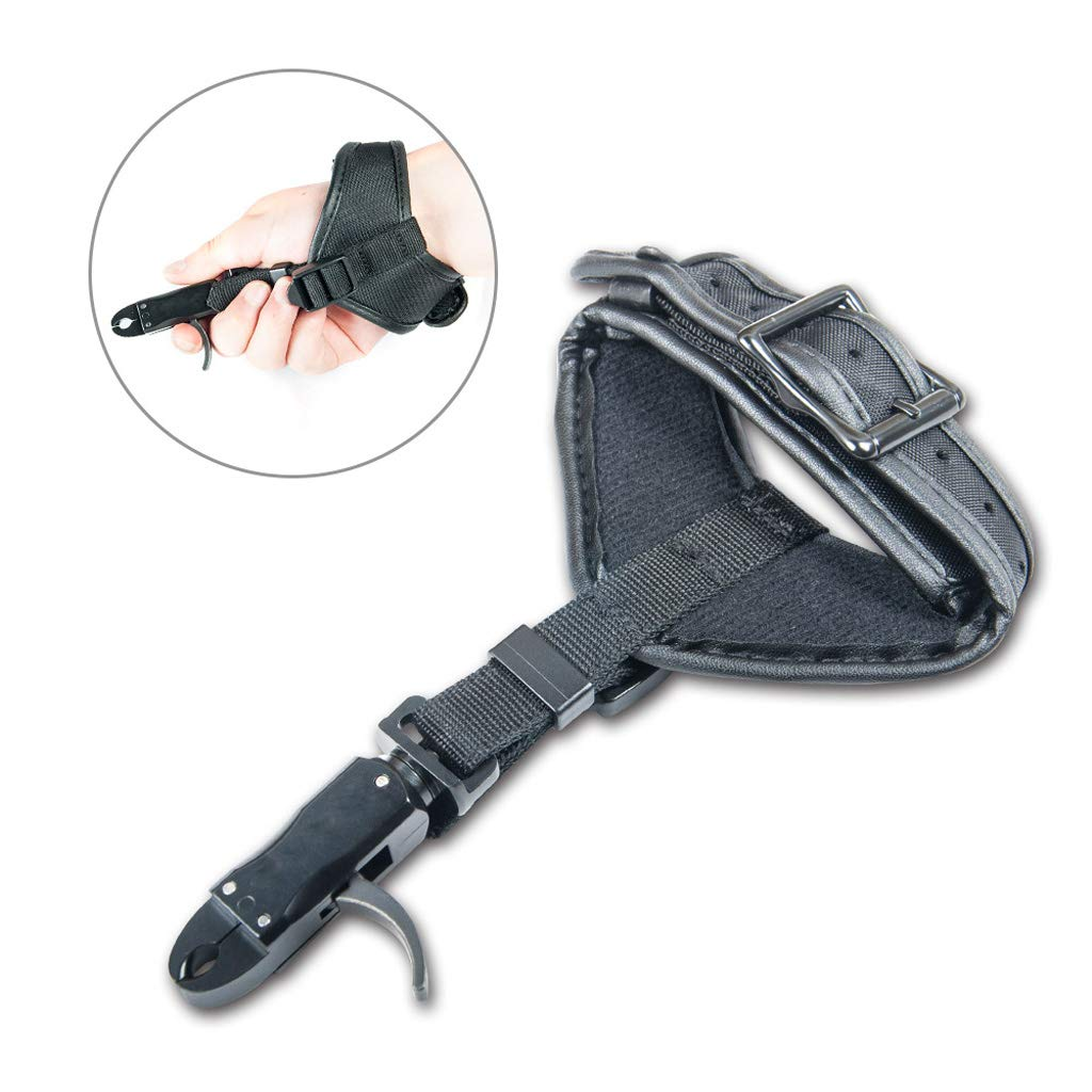Adjustable Wrist Strap Ambidextrous Prettyia Archery Compound Bow Release Trigger