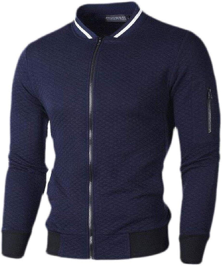 Abeaicoc Mens Jacket Zip Up Athletic Color Block Casual Sweatshirt
