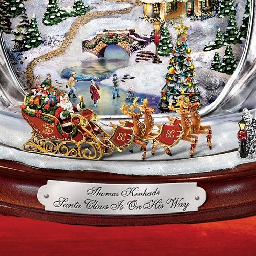 Thomas Kinkade Santa Claus Tabletop Crystal Figurine