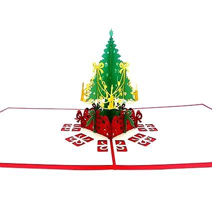 Demarkt 3D Tarjeta de Felicitación Árbol de Navidad Tarjeta ...