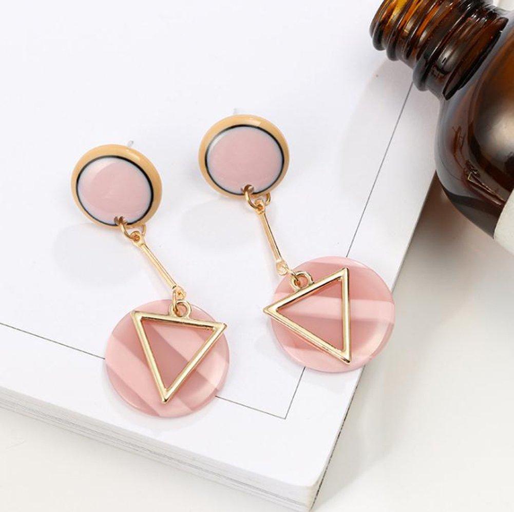 wicemoon Retro Pers/önlichkeit Runde Disc Form dreieckig Ohrringe Frauen s Modelle Lange Ohrringe goldfarben 5 cm