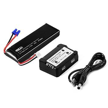 XCSOURCE® 7.4V 2700mAh Batería Lipo 10C + 2 en 1 cargador de ...