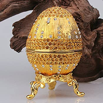Amazon.com: znewlook Egg Design Box for Jewelry Shinny