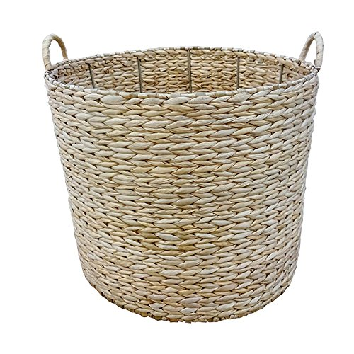 Large Round Water Hyacinth Storage Basket by Red Hamper
