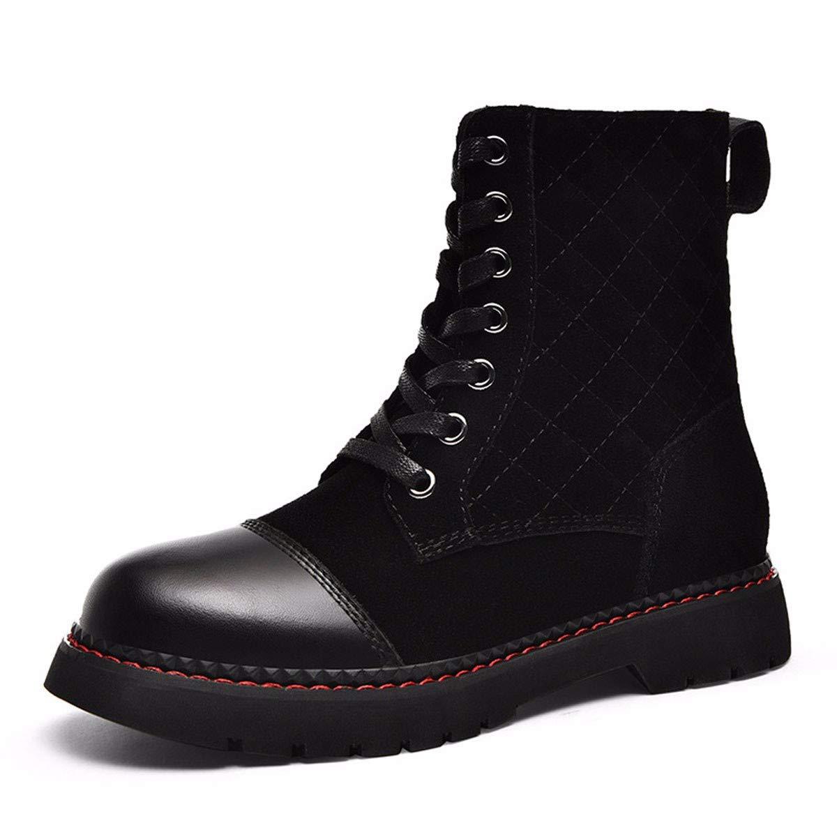 noir Thirty-eight GTVERNH Chaussures Femmes Femmes à Fond Plat Anglais Court De Bottes Vent Velours 3 Cm De Talon Haut.
