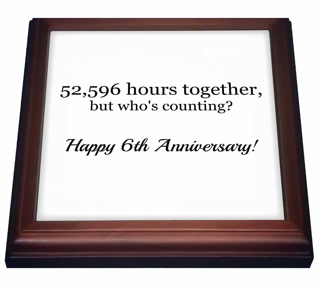 3dRose trv_224651_1 Happy 6Th Anniversary Trivet with Tile, 8 by 8''