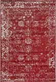 Unique Loom Sofia Collection Burgundy 4 x 6 Area Rug (4' x 6')